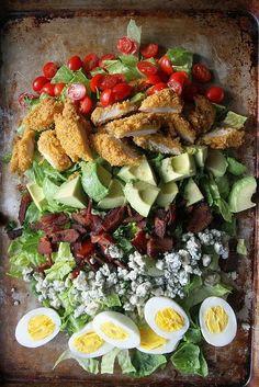 Recipe: Fried Chicken Cobb Salad - w/ grilled chicken instead of fried