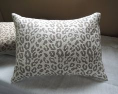 Taupe leopard print decorative linen pillow cover on white or natural gray brown hand block printed home decor modern minimalist Linen Pillows, Bed Pillows, Leopard Wall, Brown And Grey, Gray, White Bedding, Designer Pillow, Accent Pillows, Modern Decor