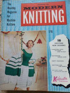 Vintage Machine Knitting Magazine: Modern Knitting December 1956