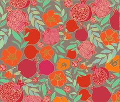 Pomegranates fabric by zeinab on Spoonflower - custom fabric
