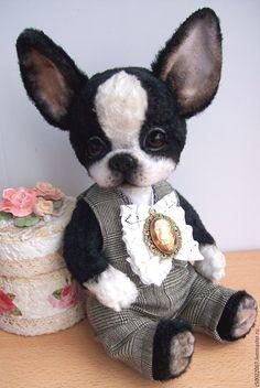 Купить Бобби - чёрно-белый, щенок, щеночек, щенок тедди, тедди, друзья тедди, собака