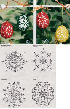 Christmas archives beautiful crochet patterns and knitting patterns – Artofit Crochet Chart, Crochet Motif, Crochet Doilies, Crochet Flowers, Easter Egg Pattern, Easter Crochet Patterns, Doily Patterns, Knitting Patterns, Crochet Christmas Ornaments