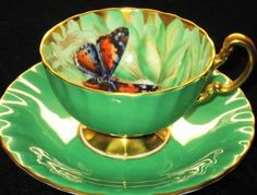 Aynsley Drifting-Butterfly  Teacup and saucer