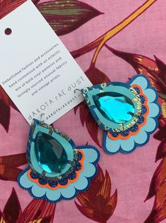 COMING SOON . new colours landing online next week. Are these your dream festival earrings? Boldly printed, textile jewellery from dakota rae dust Turquoise Tassel Earrings, Fabric Earrings, Pink Earrings, Fringe Earrings, Teardrop Earrings, Textile Jewelry, Jewellery, Vintage Floral Fabric, Pink Patterns