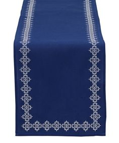 Loving this Mosaic Tile Embroidered Table Runner on #zulily! #zulilyfinds