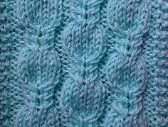 Fancy cables knitting-stitch