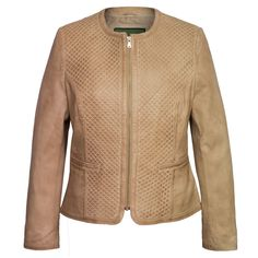 The Anna quilted leather jacket in Sand has been crafted out of natural grain sheep nappa and it is an extremely supple garment with a soft touch.