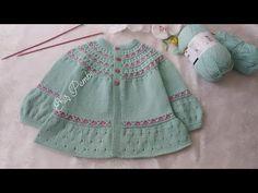 Hayal Hırka 1.Bölüm Eriş Pembe Tasarımı - YouTube Knitting For Kids, Baby Knitting Patterns, Crochet Crafts, Crochet Yarn, Crochet Hooded Scarf, Knitting Videos, Baby Cardigan, Baby Bibs, Baby Dress