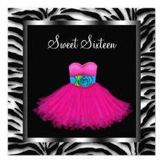 Sweet 16th Birthday Party Invitations - (Click on pics) To view more items!!!