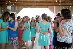 What a beautiful moment at this summer wedding.  Group mother/daughter dance. #motherdaughterdance #weddingreceptionphoto #knoxvilleweddingphotographer www.farrahsphotography.net