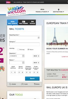 SNCF - Travel - booking process