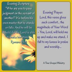 Evening S rupture and Prayer #atruegospelministry