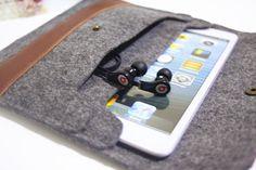 Simple ipad Air seeve design felt ipad case 100 wool by kirastyle