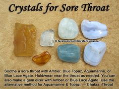 Crystal Guidance: Crystal Tips and Prescriptions - Throat Sore
