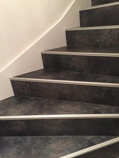 escalier en b ton cir gris clair polished concrete in a staircase soft grey my work. Black Bedroom Furniture Sets. Home Design Ideas