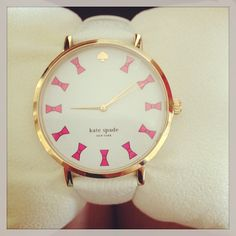 This Kate Spade watch is too cute! All of the hours are bows!