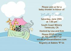 Noah's Ark Twins - Personalized Baby Shower Invitations!!!