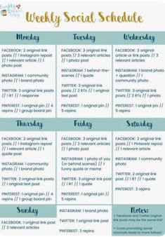 Tips for weekly social media planning! - Tips for weekly social media planning! Social Media Branding, Social Media Planner, Social Media Detox, Social Media Content, Social Web, Social Media Tips, Social Media Posting Schedule, Social Media Calendar Template, Social Skills