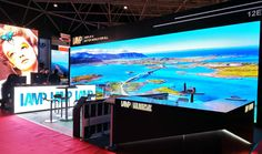 Main screen: large screen, m, GN narrow pixel pitch) Side screen: window screen, m, (maximumly show the color of the images) Window Screens, Company News, New Details, Shenzhen, Led Lamp, Billboard, Indoor, Display, Pitch