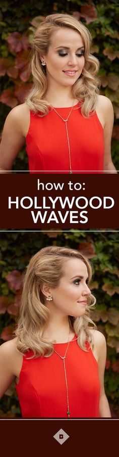 Glamorous Hollywood waves look just as good at your holiday parties as they do on the red carpet. And the best part? They're surprisingly easy to recreate. All it takes is some hairspray, bobby pins, and a little curling wand know-how. Watch this video to learn the best direction to curl your hair to get gorgeous vintage waves.
