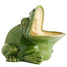 Green Ceramic Frog Planter $39.95
