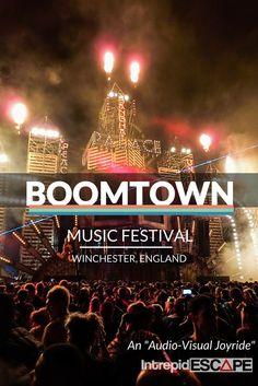 "An ""Audio-visual Joyride"" Boomtown Fair 2015 Boomtown Fair, Her Packing List, Festival Chic, Music Festivals, Winchester, Drum, Bass, Places To Go, Trips"