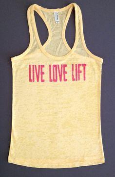 Women's Workout Tank Top // Live Love Lift by AbundantHeartApparel, $26.00