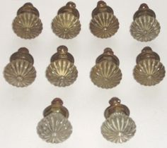 Lot of Vintage Glass Knobs with Metal Brass Hardware Cabinet Drawer Pulls | eBay  For butlers pantry
