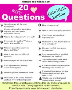 20 Date Night Questions For Married Couples free Printable from the marriage… Happy Marriage, Marriage Advice, Love And Marriage, Relationship Tips, Relationship Questions, Marriage Games, Healthy Marriage, Marriage Romance, Healthy Relationships