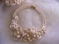 Cotton Lover's Wedding Necklace by Fatima Lasay of Crochetology