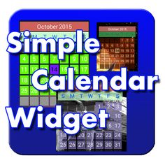 Simple Calendar Widget.  Very small.  Very easy to customize. Productivity Management, Productivity Apps, Calendar Widget, Simple, Easy, App Store, Google Play, Software, Free