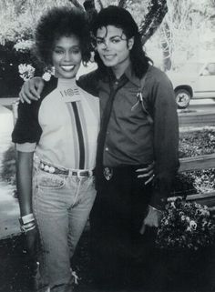 1980s:    Whitney Houston & Michael Jackson - 1988