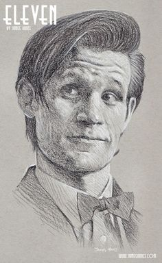 'Eleven' Doctor Who Original Signed Framed Charcoal Drawing by James Hance | eBay