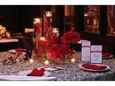 Decoración para boda con velas flotantes