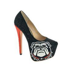 Women's Herstar Georgia Bulldogs Rhinestone Pump High Heels, Size: 8.5, Multicolor