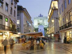 Rua Augusta, in the Baixa, Lisbon Places Around The World, The Places Youll Go, Around The Worlds, Honeymoon Spots, Honeymoon Destinations, Yosemite National Park, National Parks, Traveling By Yourself, Street View