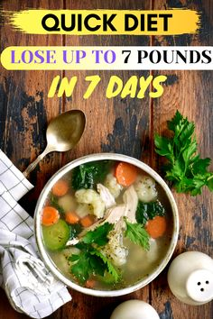 Have you gained a few pounds and want to get rid of them sooner? Here's a quick diet that can help you lose up to 7 pounds in just 7 days. #Diets #WeightLossDiets #DietsMealPlans