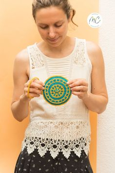 Round Crochet Coin Purse, Coin Purse for Women, Gift for her Beautiful and cheerful purse! This cute and minimalist mandala coin purse will keep everything organized. It will be a good companion in your bag to keep your keys, money, cards, headphones and something else. Besides, it will be so practical that you can hang it on your hand and you won't need to carry a bigger bag. #marvicrochet #coinpurse #coinpurseforwomen #round #roundcoinpurse #crochetcoinpurse #giftforher #madeinspain Crochet Coin Purse, Crochet Cord, Gifts For Women, Gifts For Her, Mercerized Cotton Yarn, Money Cards, Big Bags, Glasses Case, Beautiful Gifts