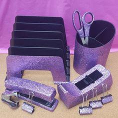 Violet Glitter Office Supplies: Great for teachers! Dyed Hair Purple, Hair Color Purple, Purple Love, All Things Purple, Purple Rain, Shades Of Purple, Light Purple, Deep Purple, Pink Purple