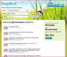 Snap Bird, herramienta que busca dentro del timeline de un usuario concreto, de las menciones, solo entre followers o entre followings