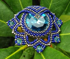 beaded pendant Leia -copyright Ellad2. Made by Cornelia Himmelreich