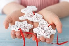 Great idea for modern, matte, textural white Christmas ornaments or baby foot ornaments