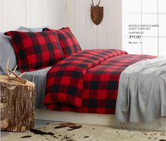 J'adore cette douillette / couette / parure de lit - #buffalo #lumberjack