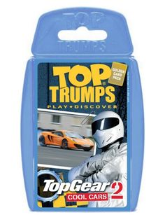 Nothing says cool like cars. Apart from ice, snow, and maybe Samuel L. Jackson. Imagine Samuel L. Jackson driving a cool car in ice and snow. Wow. Where were we? Ah yes, TOP GEAR: COOL CARS 2! This Top Trumps pack has many a motor, fresh from the Top Gear test track. Each car has been mercilessly put through its paces by the Stig himself to ensure that it's worthy of a place in the pack. http://shop.winningmoves.co.uk/products/5036905019095-top-trumps-top-gear:-cool-cars-2.html