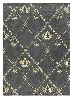 Cotton and Latex backing.Pile Height: loop pile (Total height Indoor Sizes: x x x x item is excluded from sale events and not available for additional discounting or promotional offers. Trellis Rug, Trellis Pattern, All Modern Rugs, Darker Shades Of Grey, Geometric Type, Floral Rug, Grey And Gold, Traditional Rugs, William Morris