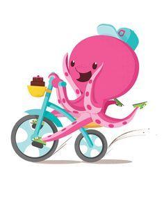 cute kids octopus illustration - Google Search