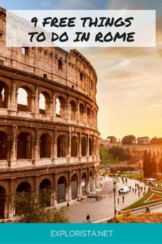 Rome is like a living fairytale. But it's not cheap! Hence I collected 9 cool and free things to do in Rome, so you can spend all your money on food ; Rome Places To Visit, Places To Travel, Places To See, Must See Italy, Visit Italy, Rome Travel, Italy Travel, Free Things To Do In Rome, Rome Guide