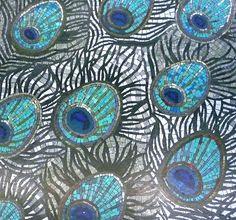 Peacock Feathers Mosaic: Canary Wharf