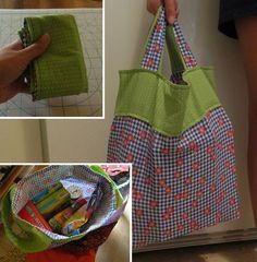 Fat Quarter Grocery Bag. Christmas gift