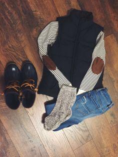 Ralph Lauren top Ralph Lauren vest  Sperry Duck boots
